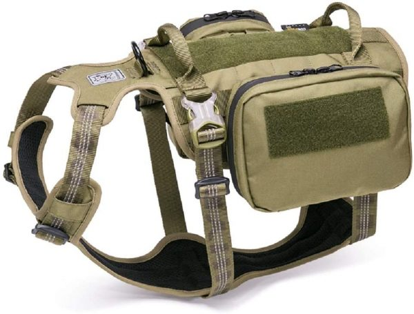 Chai's Choice Rover Scout Tactical Dog Backpack Harness