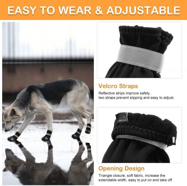 Winter Dog Boots with Warm Lining