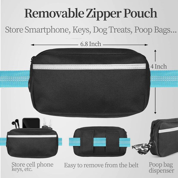iYoShop Hands Free Dog Leash with Pouch