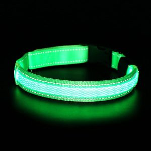 Reflective & Rechargeable LED Dog Collar